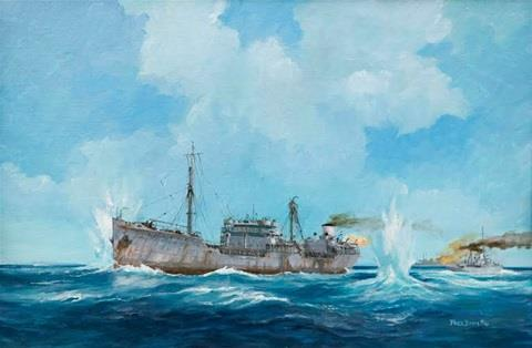 Olietransporten van Abadan in Perzië naar Fremantle in Australië; 1942