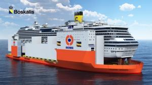 Costa Concordia met Dockwise naar de sloop